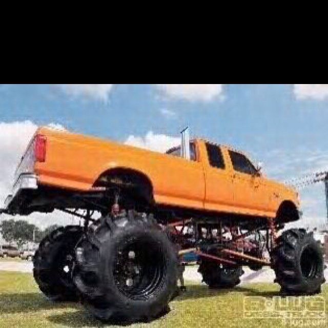 jacked up truck