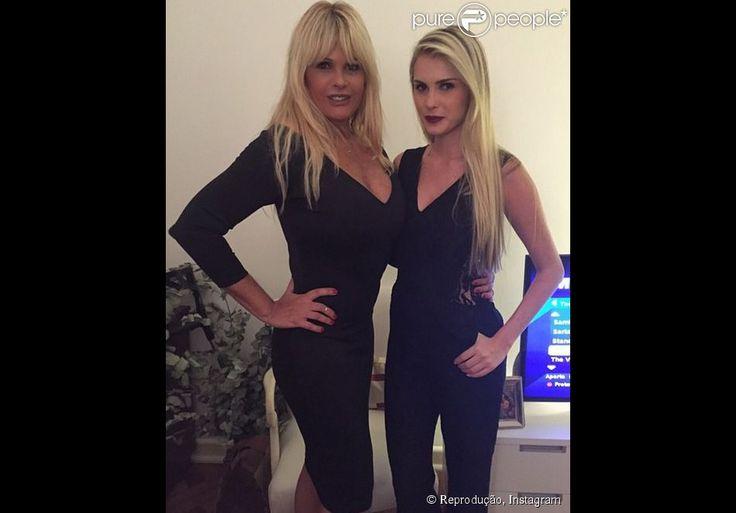 Monique Evans exibe silhueta em dia ao lado da filha, Bárbara