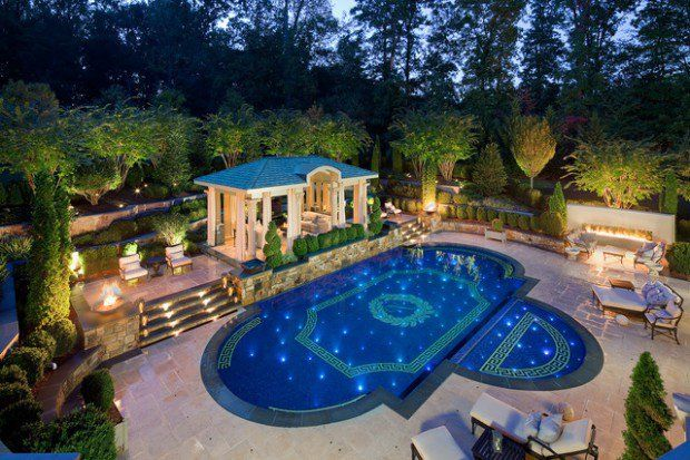 Small Swimming Pool Designs Waterfalls