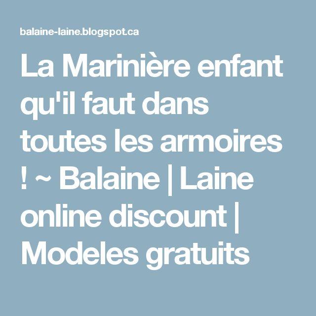 La Marinière enfant qu'il faut dans toutes les armoires ! ~ Balaine | Laine online discount | Modeles gratuits