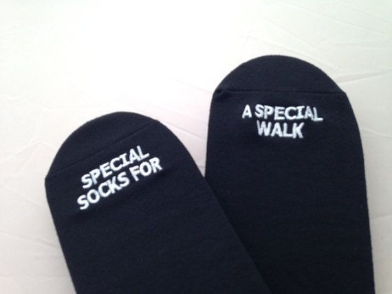 GroomSocks -Father of the Bride Wedding Socks 'Special Socks For A Special Walk' Sentimental Wedding Gift for Dad, Walking Down the Aisle by groomsocks. Explore more products on http://groomsocks.etsy.com