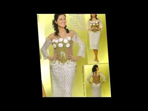 Шикарные вязаные свадебные платья