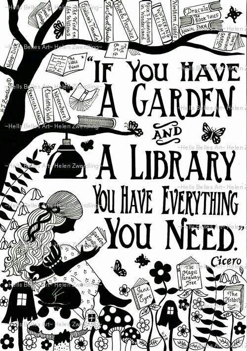 Garden Library ~ Cicero-Zitat ~ eine personalisierte und verbesserte, hochwertig