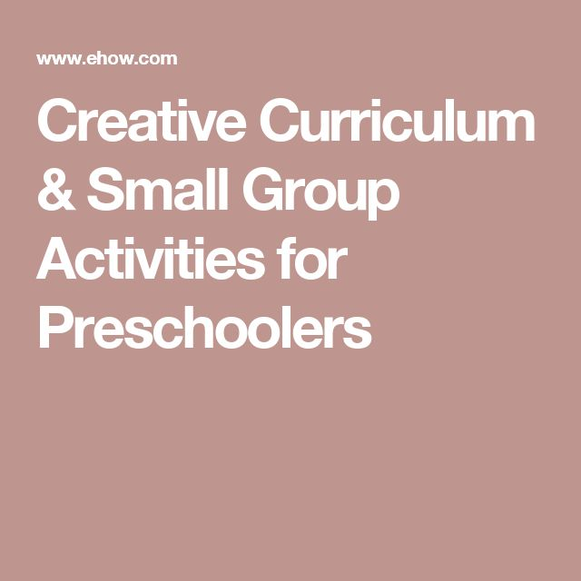 Creative Curriculum & Small Group Activities for Preschoolers                                                                                                                                                                                 More