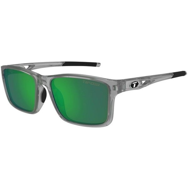 Tifosi Sunglasses - Marzen Crystal Smoke Swivelink w/ Smoke Green... (£49) ❤ liked on Polyvore featuring accessories, eyewear, sunglasses, green lens sunglasses, tifosi sunglasses, tifosi glasses, crystal glasses and crystal sunglasses