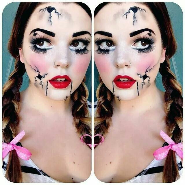 Broken Doll makeup via @styled_by_shan