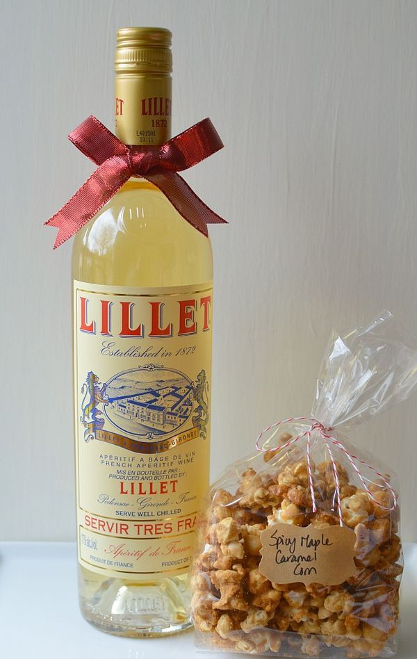 This year, I'm simplifying my holiday gift giving list even more by keeping my hostess gifts simple and satisfying. For homemade gifts, I'm passing out small cellophane sacks of a spicy maple caramel popcorn (recipe on pg. 266 of Gatherings, but this is a suitable replacement that people seem to love) and for something store-bought I'm opting for a bottle of Lillet instead of red or white wine. I'm a big fan of Lillet, but I'm not sure if everyone else is aware of its charms. A French…