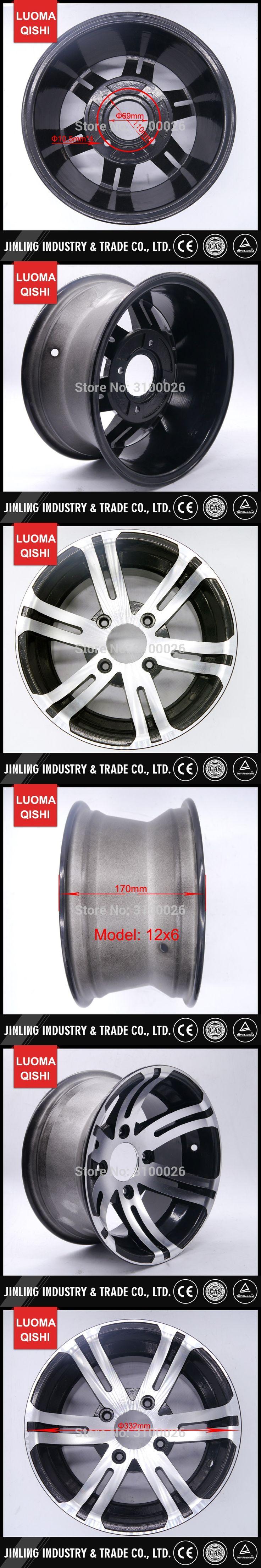 12x6 Alloy Aluminium Rim Fit For 12 Inch Tire Wheel 205 30 Racing