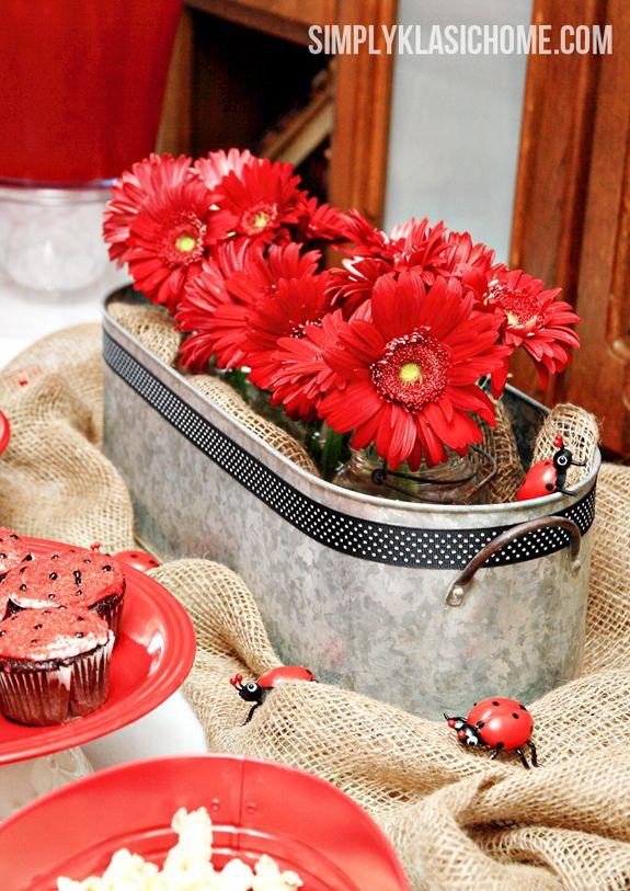 Ladybug Party Decorating Ideas                                                                                                                                                                                 Más