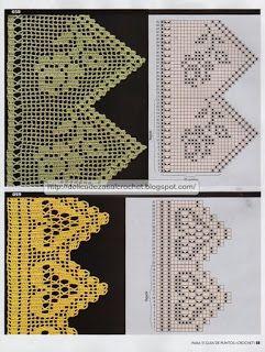 Delicadezas en crochet Gabriela: Nueva entrega de bordes y puntillas decorativas