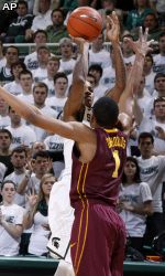 Gary Harris scored 15 points and Keith Appling added 14 points before leaving the game with an injury to help No. 12 Michigan State bounce back from a poor first half to beat No. 18 Minnesota 61-50 Wednesday 2.6.13
