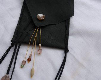 Leather festival bag pouch - handmade Boho style OOAK - Edit Listing - Etsy