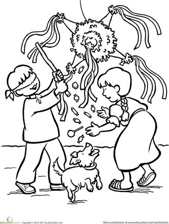 la posada coloring pages | Worksheets: Las Posadas Coloring Page | Christmas Spirit ...