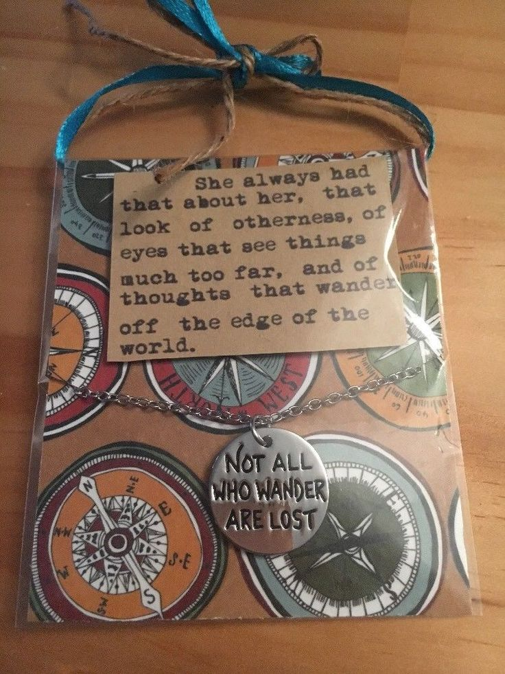 Not All Who Wander Are Lost Necklace In Inspirational Gift Pack  | eBay