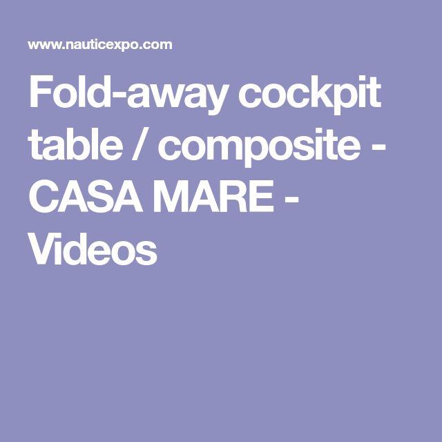Fold-away cockpit table / composite - CASA MARE - Videos