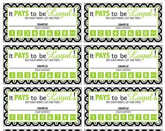 It Works Loyal Customer Log by printablesyoulove on Etsy