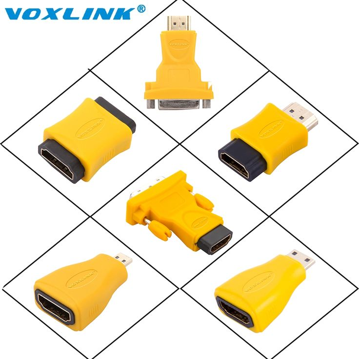VOXLINK HDMI Adapter Socket Male to Female/male Converter Connector to 24+5 DVI Micro Mini for HDTV Plasma DVD Projector