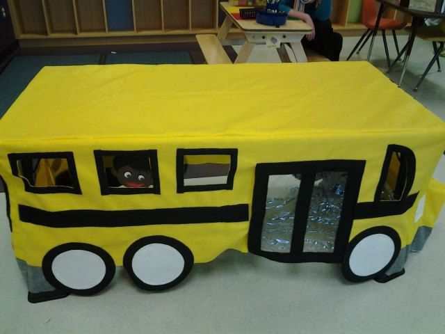 Kit only School Bus Felt Playhouse custom by HowIavoidhousework, $60.00