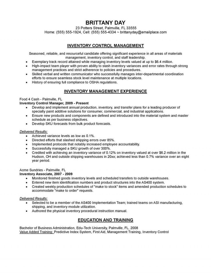 Air Traffic Controller Resume Fresh Inventory Control