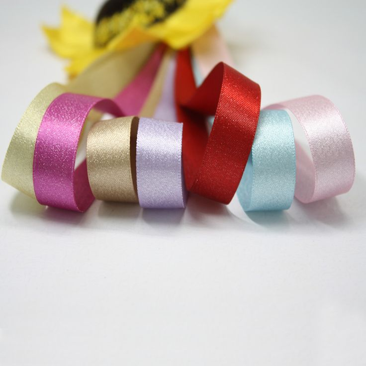 Gift Packaging Wholesale Polyester Silver Weft Satin Ribbon Handmade Accessories