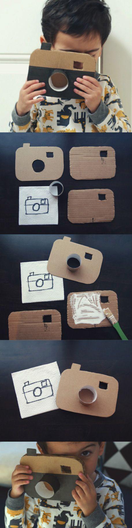 Kamera einfach aus Karton basteln