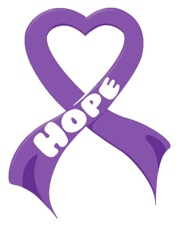 Pancreatic Cancer Ribbon Hope
