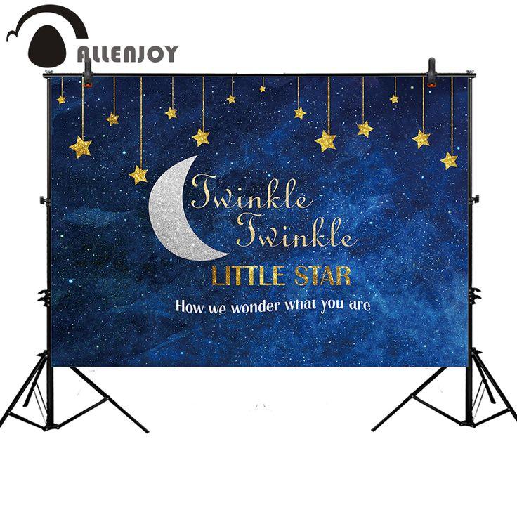 Allenjoy photo backdrops dark blue stars sky moon birthday first Communion background professional photo printer photocall