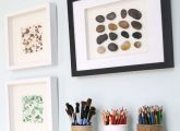 Diy Pebble art-love the ideas on this blog
