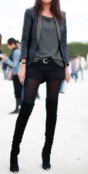 shorts and tights are one of my favorites when it is done right