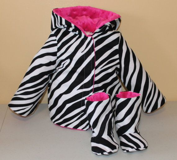 Size 3-6 months Zippered Boots and Reversible Jacket by GooberPeaDesigns, $60.00
