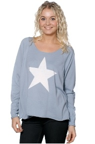Hunky Dory - Sweater - Knit Star - Chambray blue