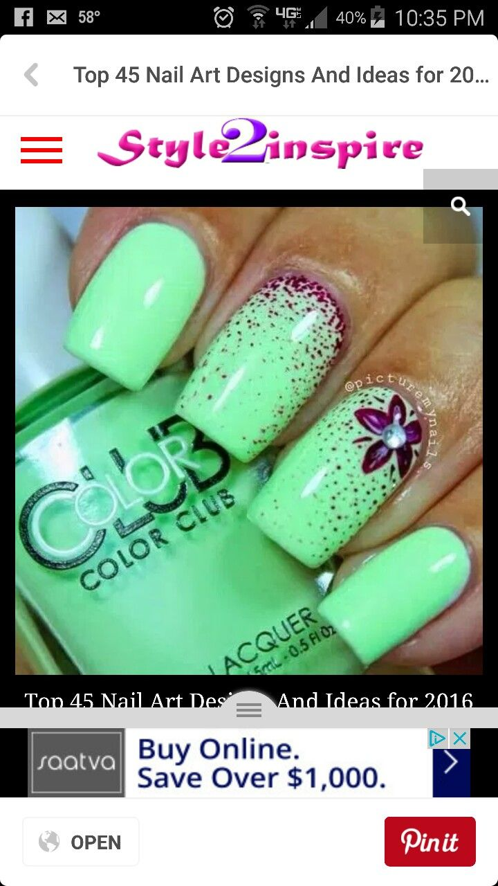 Mejores 135 imágenes de nails en Pinterest | Pedicura, Diseños de ...