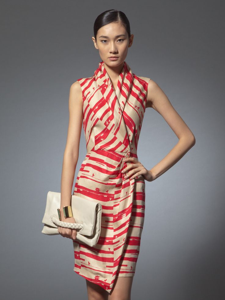 Shanghai Tang. Spring 2014 collection. Perfect for a Museum Curator? Riding horse print silk linen dress