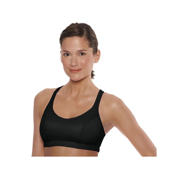 Champion Sports Bra: Shape T-Back High-Impact 1050, Women's, Size: 34 B, Black