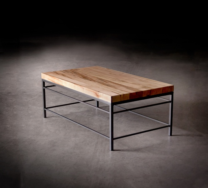 5412 Watson Cocktail Table With Solid Wormy Maple Top
