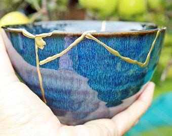 Kintsugi bowl, kintsugi cerámica esmalte