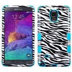 Samsung Note4 Hybrid Tuff Design Zebra Tropical Teal