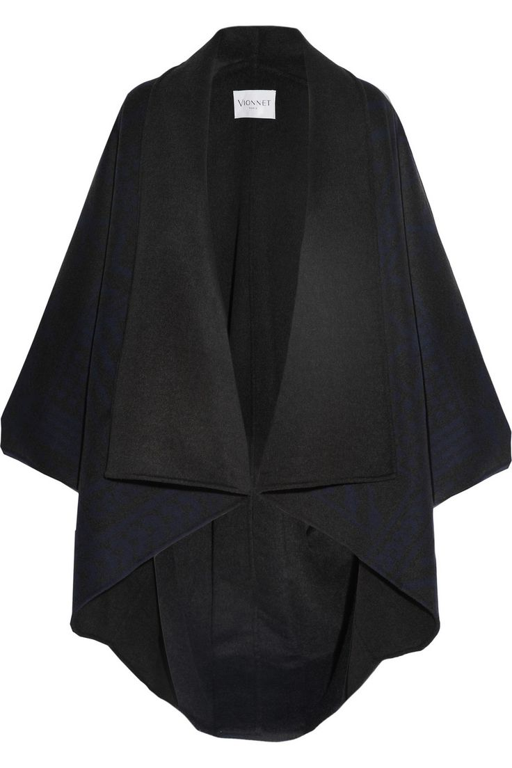 Vionnet|Printed wool-blend blanket coat|NET-A-PORTER.COM