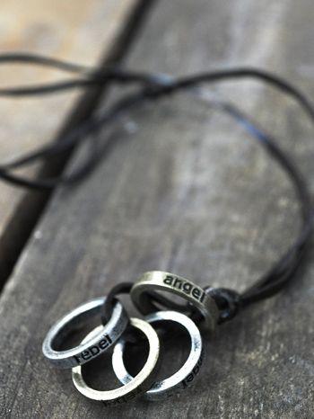 corrente masculina anéis