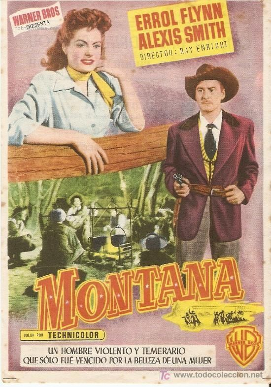 Cattle Empire Movie Cast | Générer jaquette PDF Montana starring Errol Flynn and Alexis Smith #Flynn