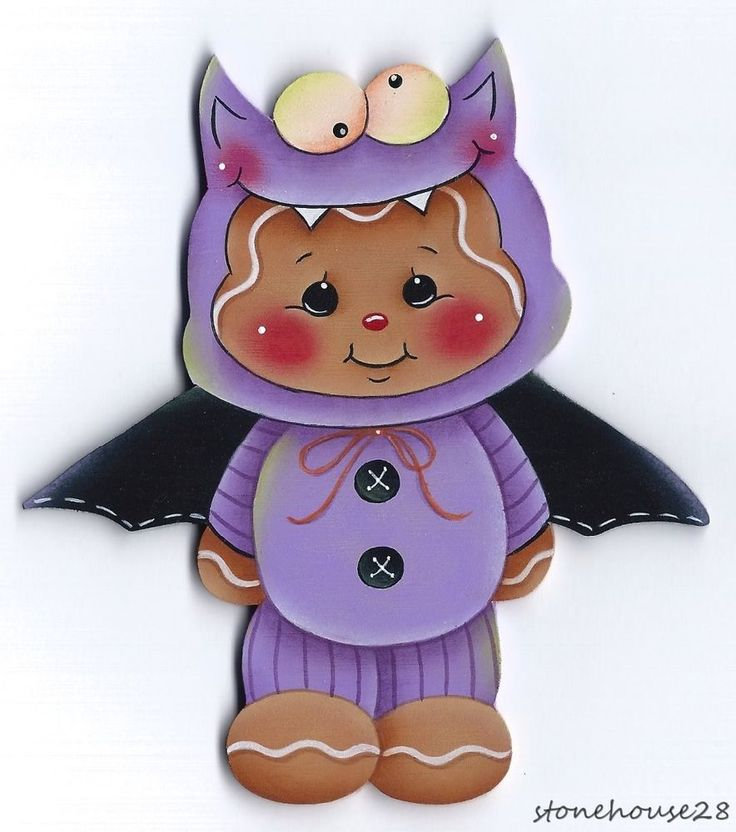hp gingerbread purple bat halloween costume fridge magnet - Halloween Gingerbread Cookies
