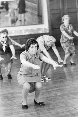 1965, yoga, exercise, class, America, Vintage, Photo