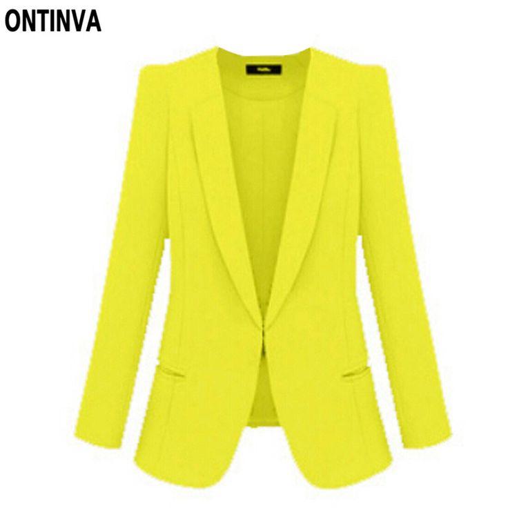 Ladies Yellow Blazer Feminino Plus Size 4XL Formal Jacket Women's White Blaser Rosa Female Blue Women Suit Office Ladies 2017-in Blazers from Women's Clothing & Accessories on Aliexpress.com | Alibaba Group