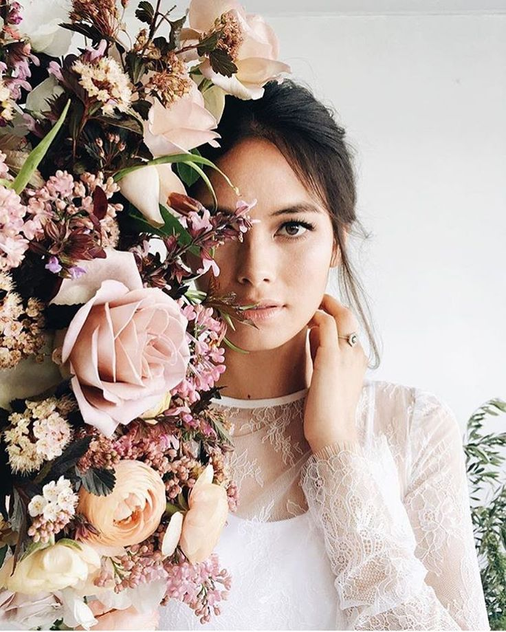 I am absolutely breathless. Beautiful work by a fantastic team. Gorgeous photo by @lunademarephoto with florals and design from @jennchezdesign. Hair and MUA @chialimengartistry, Ring @susiesaltzman, Gown @sweetcarolinestyles, Ribbons and Runners @silkandwillow, Calligraphy @seniman_calligraphy, Model @theresamvrph/ @osbrink_agency, Assistant @thejenjar.