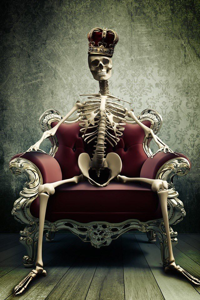 Le Roi Est Mort In 2019 Skeleton King Skull Art