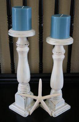 DIY Wooden Leg Candle Holder