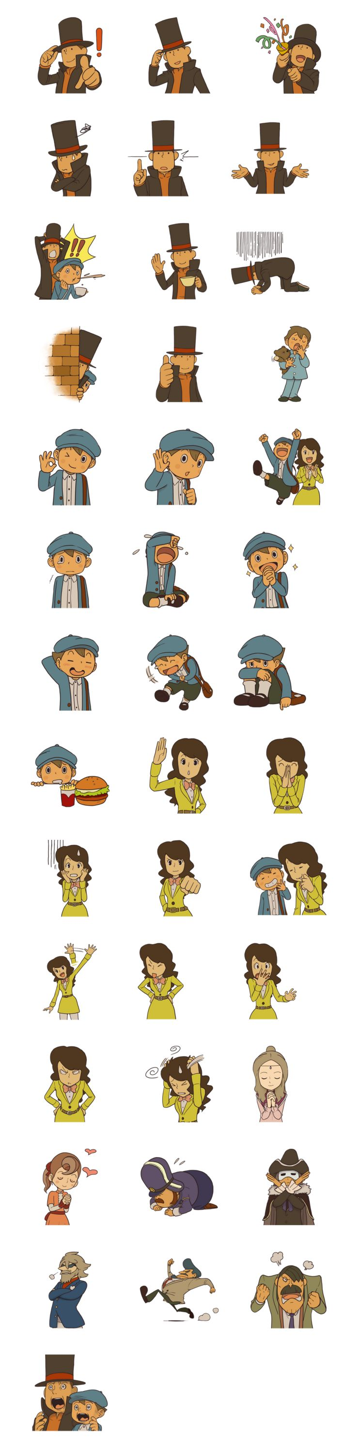 Professor Layton : Sticker Telegram https://telegram.me/addstickers/ProfessorLaytonLINE