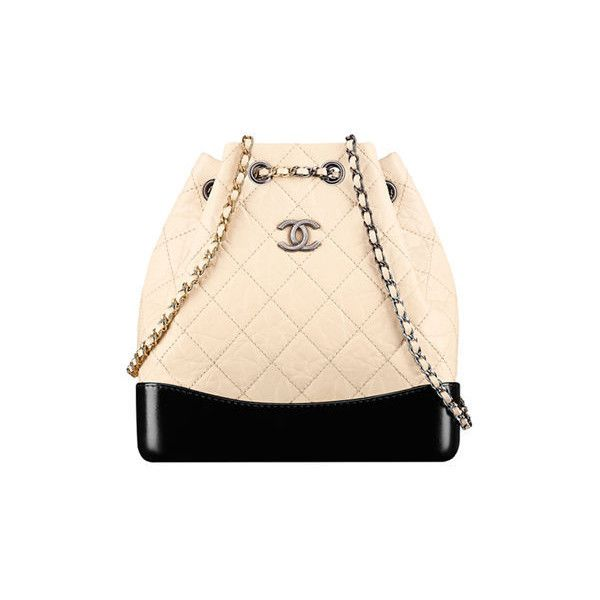 CHANEL CHANEL'S GABRIELLE BACKPACK (4 030 AUD) ❤ liked on Polyvore featuring bags, backpacks, daypack bag, rucksack bags, backpack bags, beige backpack and chanel backpack