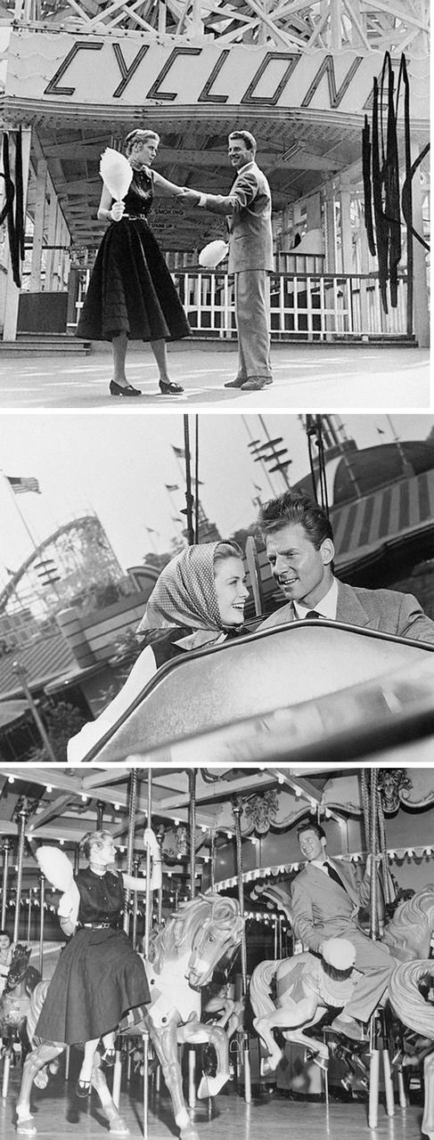 Grace Kelly and Jean Pierre Aumont at Coney Island