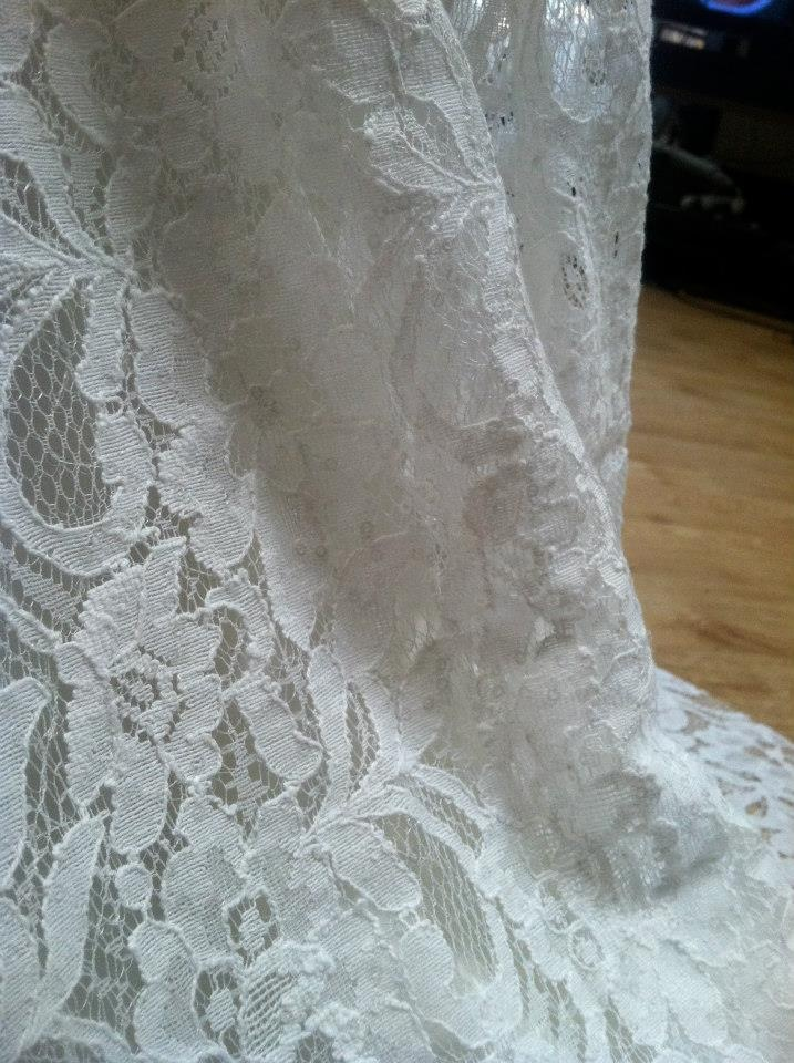 close up of lace skirt